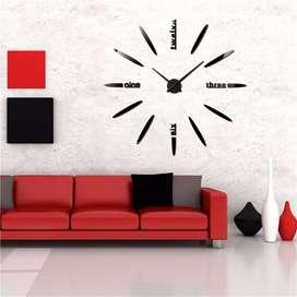 Jam Dinding Besar Creative Design 80-130cm - DIY-202 - Black
