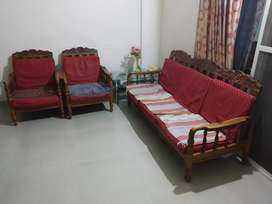 Sofa set with foam cushion