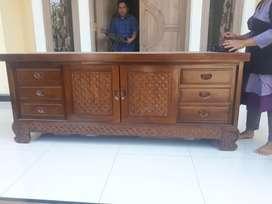 bufet meja tv motif batik jati jepara669