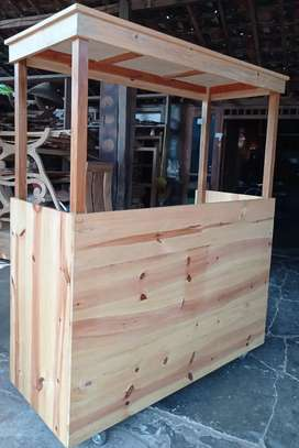 Gerobak/grobak stand street food kayu jati belanda