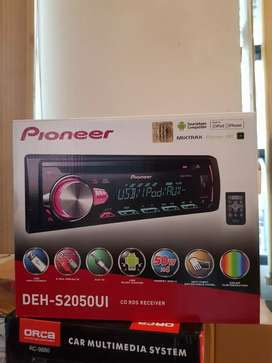 Single Din Pioneer DEH-S2050UI Car Stereo 1din Tape AUDIO MOBIL