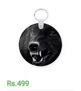 key Chains, growling wolf and game of thrones
