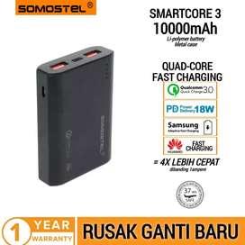 Powerbank Somostel Smartcore 3 10000mAh Qualcomm Quick Charge 3.0