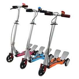 Skuter Anak Injak Dual Pedal Mainan Scooter Anak Otoped Dua Pedal ID93