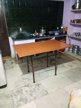 Iron Table with wood