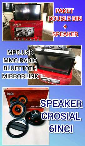 Paket Sound Tape Layar + Speaker (Mp5.Usb.Mmc.Aux.Bluettoth)
