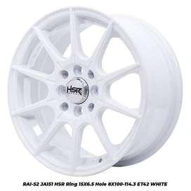VELG RACING RAI-S2 JA151 HSR R15X65 H8X100-114,3 ET42 WHITE