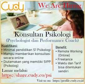 Konsultan Psikologi  (Remote Working / Online)