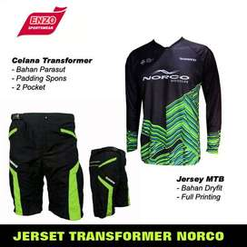 COD POS - JerSet Sepeda DH Norco Green