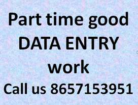 Good earning and good work for data entry typing work.