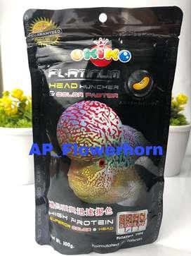 Pelet ikan Louhan okiko platinum 100gr 100% Original Size M