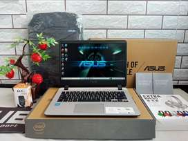 Full set ASUS A407M like new intel N4000 prosesor baru ram 4gb hdd 1tb
