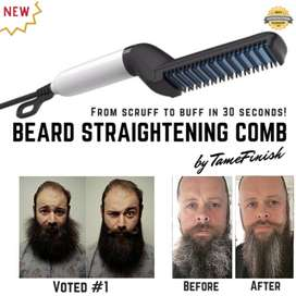 Hair and Beard Straightener For Men Multifunctional Comb Curling 2 in1