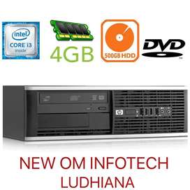 HP i3 PC AT WHOLESALE PRICES / WARRANTY ALSO / 500GB HDD & 4GB RAM