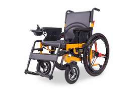 Electrical automatic power foldable wheelchair