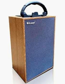 Hitage Bluetooth wooden speaker multiple media usb , sd card , aux