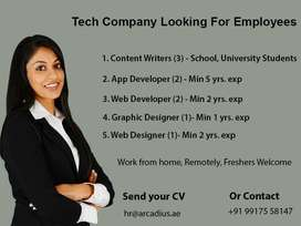 Tech Company looking for employees