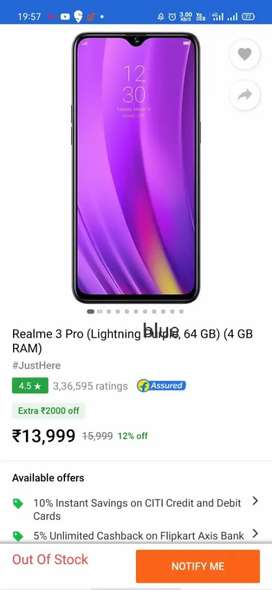 Realme3pro. RAM4&ROM64