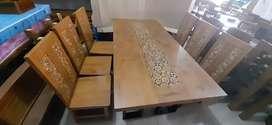 Meja makan 6 kursi koin jati jepara
