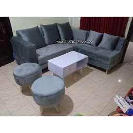 sofa tamu 1 set model simple