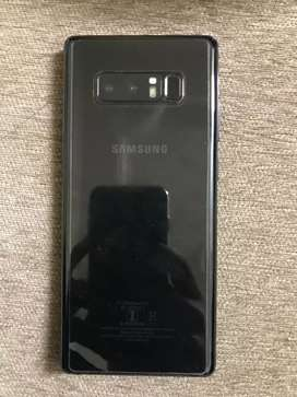 Samsung note 8 black,with full kit