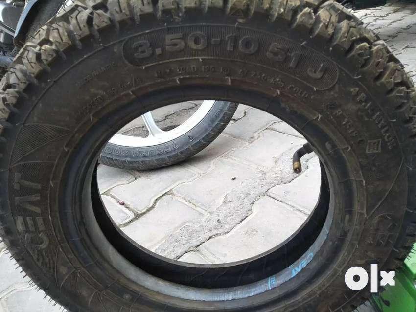 Branded Tyer tube  and battery 0