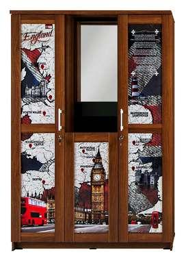 Lemari Activ England LP 302 (3 Pintu Kaca Masuk Dengan Rak Rias)
