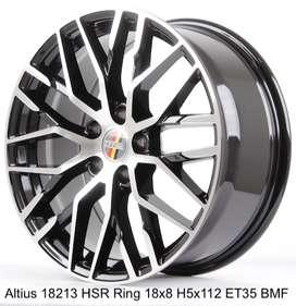 velg racing mobil mercy HSR R18X8 H5X112 ET35 BMF