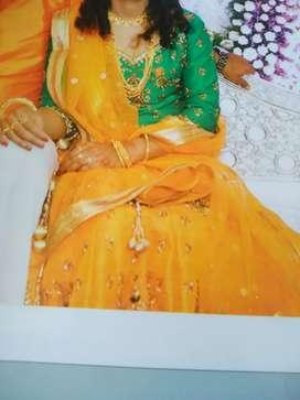Partywear Attractive Lacha lahenga dress