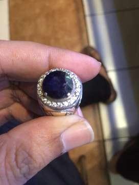 Blue sapphire ring perak