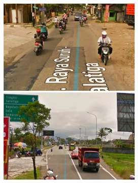 Lahan 7000m2 muka 50m dkt Exit Tol Salatiga 1,3jt/m2
