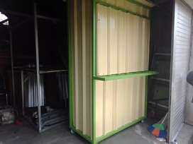 Booth container rombong kekinian