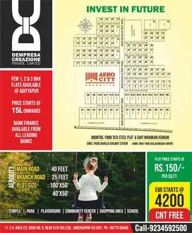 CNT FREE PLOT @ EMI only 3000 per month