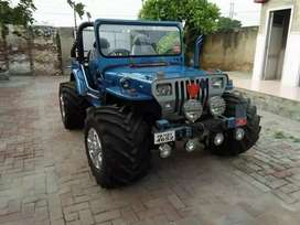 Modified   willy new blue  jeep