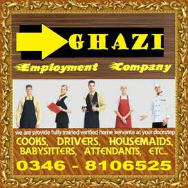 GHAZI EMPLOYMENT COMPANY  Trust worthy home servants available,