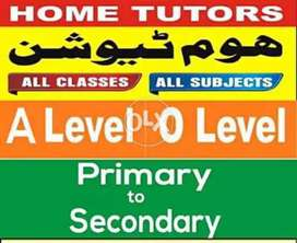 Get Expert Tutors for All Classes / Subjects / IELTS / CSS / SAT/ GRE