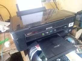 Printer Epson L360 kondisi sehat normal scan copy