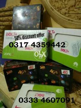 FREE HOME DELIVERY /SUPER JAZZ / ZONG 4G BOLt Plus Double Data offer