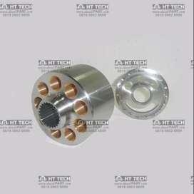 BLOCK+VALVE PLATE RH/KANAN 708-2L-06180 POMPA HIDROLIK HPV95 PC200-6-7