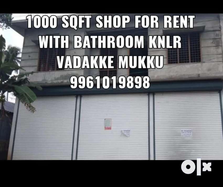 3shutter shop 1000sqft single  hall  2 lakh advance with  bathrooms