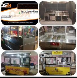Fastfood and shawarma steel counters making