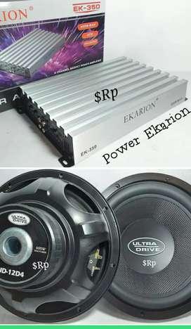 Paket Sound Hemat Power 4 Channel.Subwofer 12 Inci Double Coil