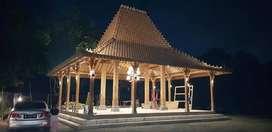 Produksi Rumah Joglo Pendopo Bahan Kayu Jati Ukir Soko 20 dan Limasan
