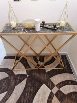 Two months used marble console