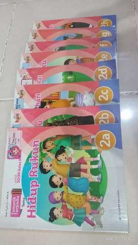 Buku Tematik SD 2, Penerbit Erlangga Jilid A - H