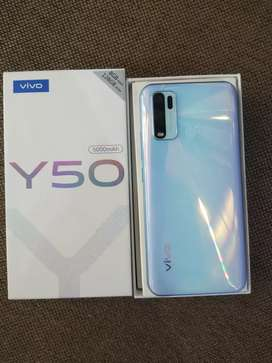 vivo y50 10.15 days old brand new condition