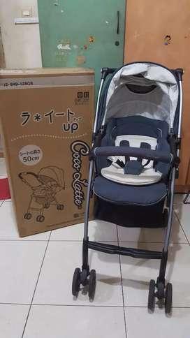 Stroller CocoLatte JS 849 New Life Up warna Abu-Abu