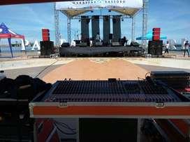 Sewa atau rental sound system panggung lighting Multimedia Talent