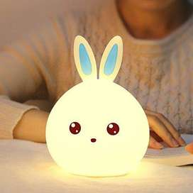 Cute Rabbit Silicone LED Night Light USB Rechargeable Baby Bedroom Nig