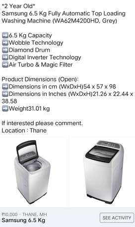 Samsung 6.2kgs fully automatic top washing machine